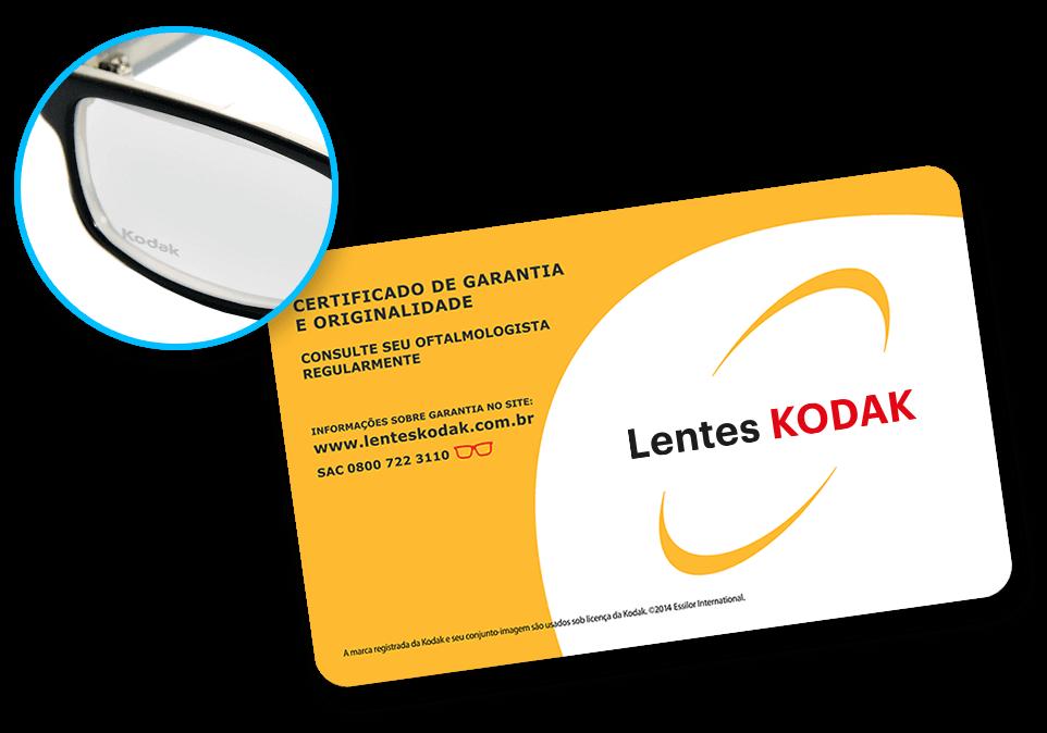 1514e15359e37 Todas as Lentes KODAK vêm com certificado de garantia da lente.